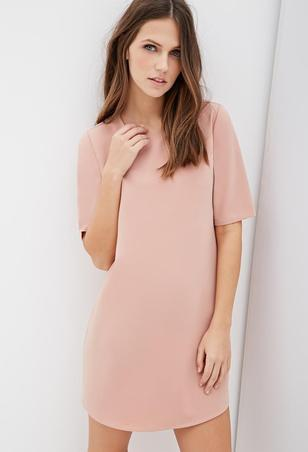 dusty-pink-forever21-classic-shift-dress