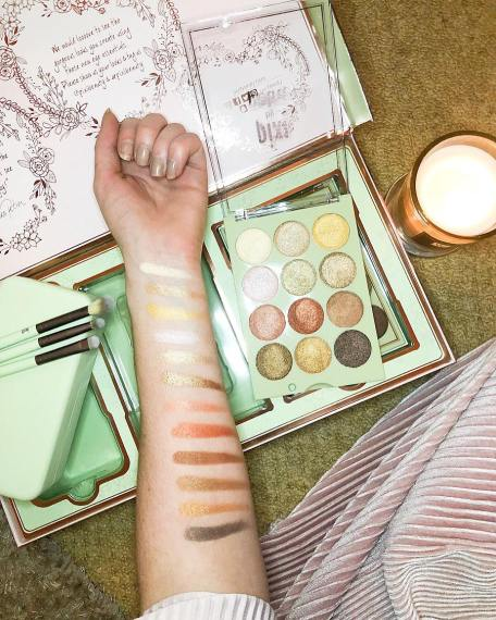 Pixi beauty eyeshadow palette with swatches