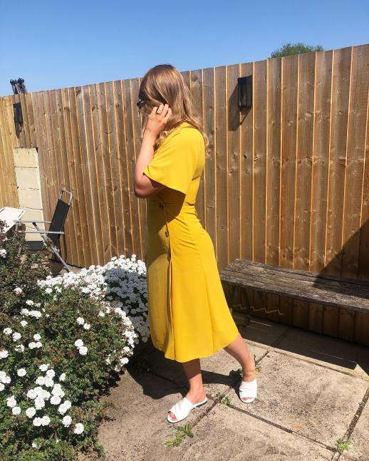 Yellow tea dress from primark