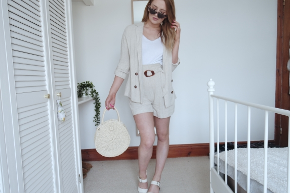 Linen blazer and high waisted shorts set from primark