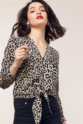 Animal print blouse from Next